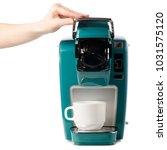 capsular electric coffee... | Shutterstock . vector #1031575120