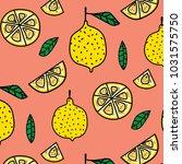 lemon fruit pattern background. ...   Shutterstock .eps vector #1031575750