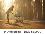 silhouette of young woman in... | Shutterstock . vector #1031581930