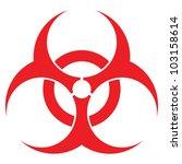 biohazard sign  vector format ... | Shutterstock . vector #103158614