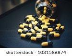 pills in capsules | Shutterstock . vector #1031586874