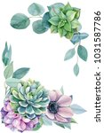 greeting card  eucalyptus... | Shutterstock . vector #1031587786