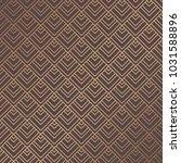 art deco pattern. golden... | Shutterstock .eps vector #1031588896