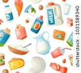 milk dairy vector food products ... | Shutterstock .eps vector #1031589340
