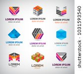 business icons set. abstract... | Shutterstock .eps vector #1031593540