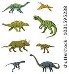dinosaurs set  triceratops ... | Shutterstock .eps vector #1031595238
