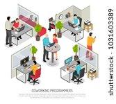 computer programmers software... | Shutterstock .eps vector #1031603389