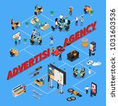 advertising agency isometric... | Shutterstock .eps vector #1031603536