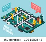 artificial intelligence... | Shutterstock .eps vector #1031603548