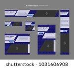 six web banners standard sizes... | Shutterstock .eps vector #1031606908