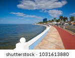 renovated promenade on the sea... | Shutterstock . vector #1031613880