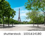 paris  eiffel tower behind... | Shutterstock . vector #1031614180