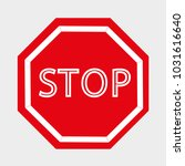 sign stop  road sign... | Shutterstock .eps vector #1031616640
