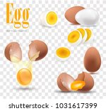 egg  set of white realistic... | Shutterstock .eps vector #1031617399