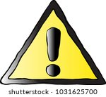 warning sing illustration | Shutterstock .eps vector #1031625700