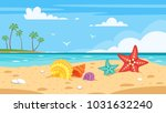 vector cartoon style background ... | Shutterstock .eps vector #1031632240