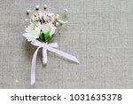 wedding boutonniere with pink... | Shutterstock . vector #1031635378