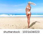 3d beautiful sun tanned woman...   Shutterstock . vector #1031636023