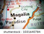 Small photo of Magalia. California. USA on a map.