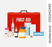 first aid and medical equipment.... | Shutterstock .eps vector #1031641450