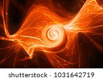 Magical Fiery Glowing Spiral...