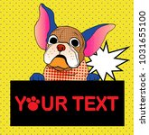 comic art and colorful halftone ... | Shutterstock .eps vector #1031655100