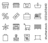 flat vector icon set   store... | Shutterstock .eps vector #1031655640