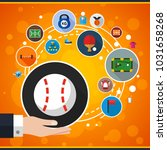 sport flat icon concept. vector ... | Shutterstock .eps vector #1031658268