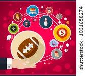 sport flat icon concept. vector ... | Shutterstock .eps vector #1031658274