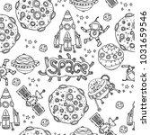 cosmic seamless pattern. vector ...   Shutterstock .eps vector #1031659546