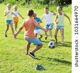 active cheerful  children... | Shutterstock . vector #1031664970