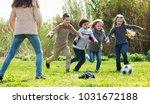 cheerful cute smiling kids... | Shutterstock . vector #1031672188