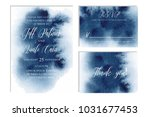 indigo  navy blue wedding set... | Shutterstock .eps vector #1031677453