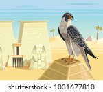 Falcon On The Top Of Ancient...