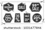 sale banners set vector. cut... | Shutterstock .eps vector #1031677846