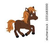 adorable cartoon horse... | Shutterstock .eps vector #1031683000