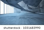 abstract white and concrete... | Shutterstock . vector #1031683990