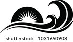 beautiful sea waves in the... | Shutterstock .eps vector #1031690908