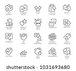 20 linear icons for online or... | Shutterstock .eps vector #1031693680