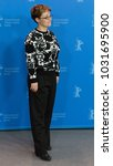 Small photo of Berlin, Germany - February 18, 2018: Italian director Laura Bispuri poses at the photo call for the film 'Figlia Mia Daughter of Mine' presented in competition at 68th Berlinale Film Festival