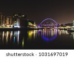 newcastle quayside at night | Shutterstock . vector #1031697019