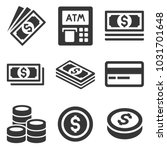 cash money icons set. dollars... | Shutterstock .eps vector #1031701648