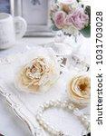 corsage flower arrangement...   Shutterstock . vector #1031703028