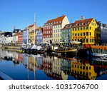 nyhavn  popular tourist... | Shutterstock . vector #1031706700