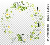 floral spring and summer vector ... | Shutterstock .eps vector #1031711599