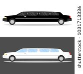 limousine  white and black...   Shutterstock .eps vector #1031713336