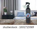bottle of anti bed bug... | Shutterstock . vector #1031715589