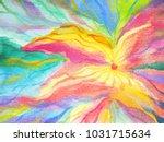 abstract art rainbow flower... | Shutterstock . vector #1031715634