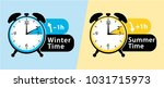 daylight saving time. summer... | Shutterstock .eps vector #1031715973
