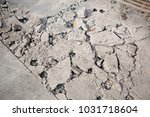 the cement road is being... | Shutterstock . vector #1031718604